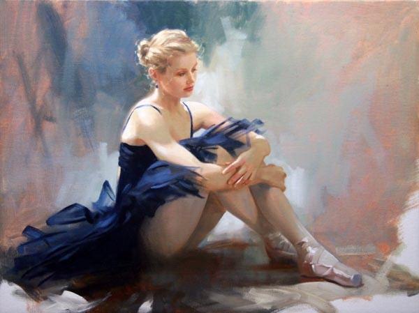 Richard Johnson Ballet Dreams 18 x 24