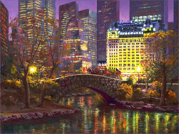 SAM PARK ARTIST - NY Central Park 24 x 32 by Sam Park Artist