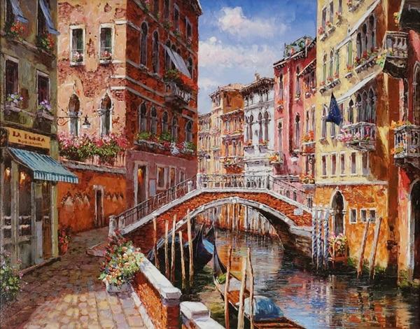 SAM PARK ARTIST - Springtime in Venice 14 x 18 by Sam Park Artist