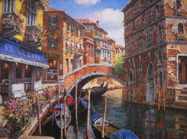 SAM PARK ARTIST - Venetian Vista 18 x 24 by Sam Park Artist
