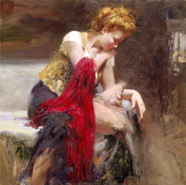 SOLD OUT Anticipation by Artist Pino Daeni Artwork