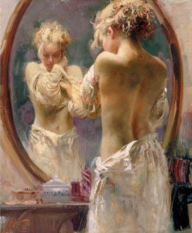 SOLD OUT Contemplation by Artist Pino Daeni Artwork