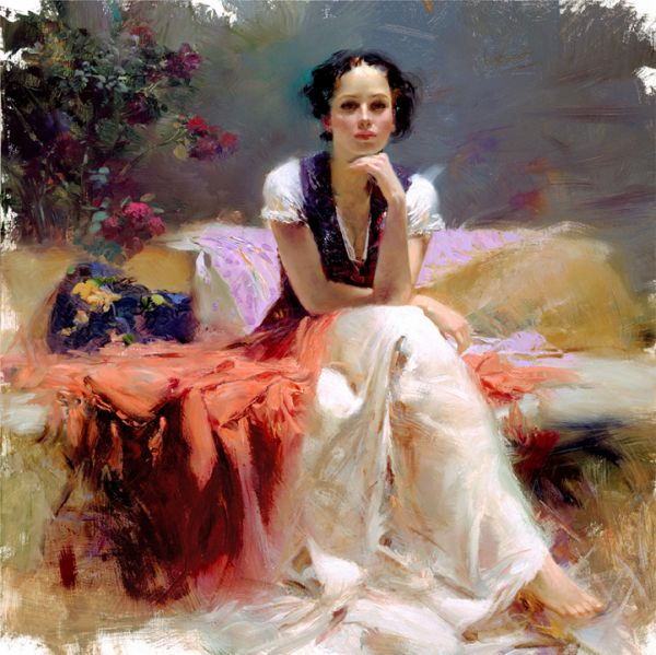 SOLD OUT - First Glance by Artist Pino Daeni Artwork