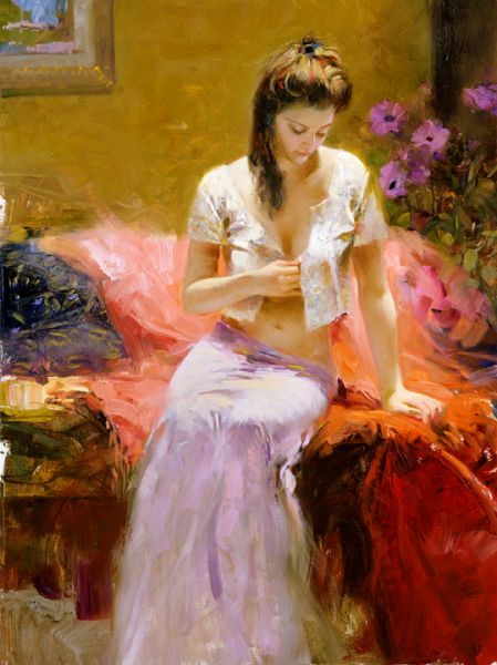 SOLD OUT Into the Night by Artist Pino Daeni Artwork
