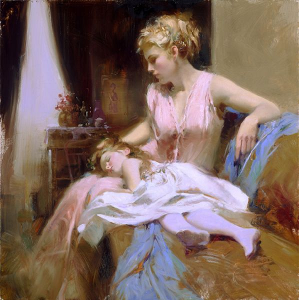 SOLD OUT - Long Day by Artist Pino Daeni Artwork
