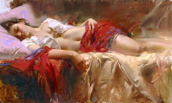 SOLD OUT Restful by Artist Pino Daeni Artwork
