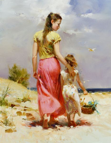 SOLD OUT Seaside Walk by Artist Pino Daeni Artwork