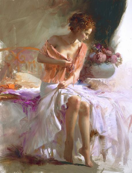 SOLD OUT Spring Flower by Artist Pino Daeni Artwork