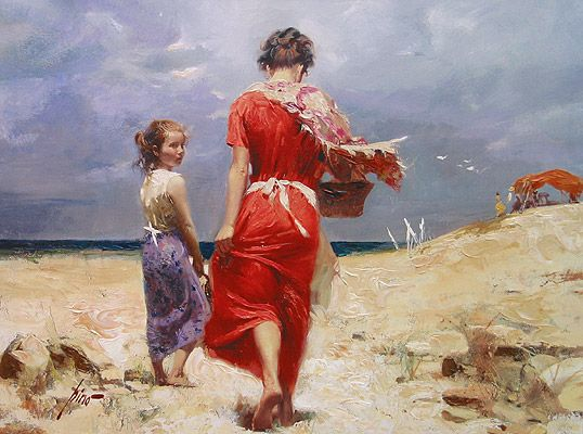 SOLD OUT Summer Retreat by Artist Pino Daeni Artwork