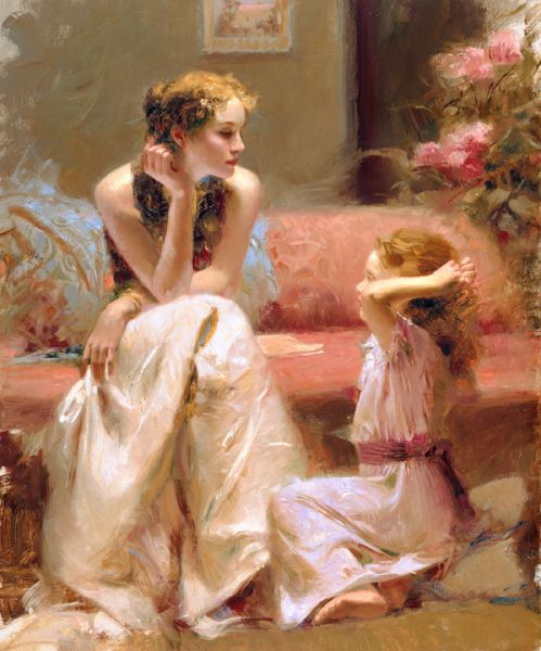 SOLD OUT Thinking of You by Artist Pino Daeni Artwork