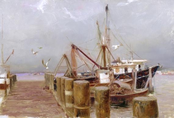 Safe Harbor by Artist Pino Daeni Artwork