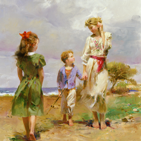 Seaside Retreat by Artist Pino Daeni Artwork