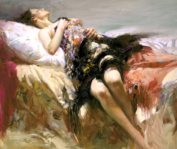Sensuality by Artist Pino Daeni Artwork