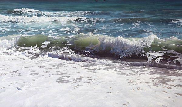 Shore Break by Artist Vadim Klevenskiy - Wave Painting