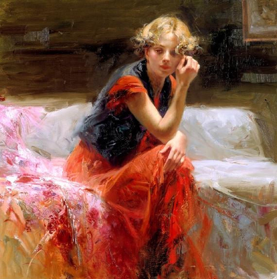 Silent Contemplation by Artist Pino Daeni Artwork