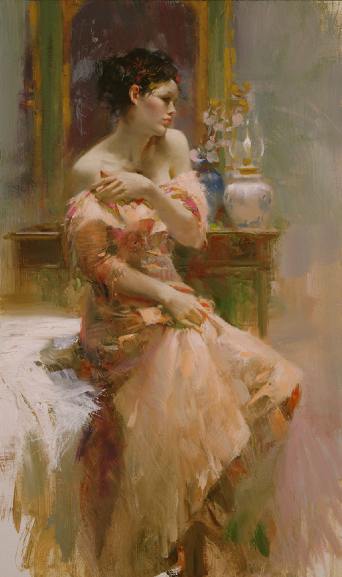 Silk Taffeta by Artist Pino Daeni Artwork