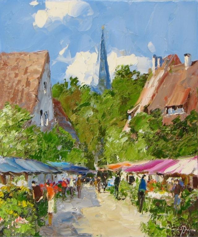Southern Market - 24 x 20 - Erich Paulsen Artist - Original Painting - Art Eric Paulsen