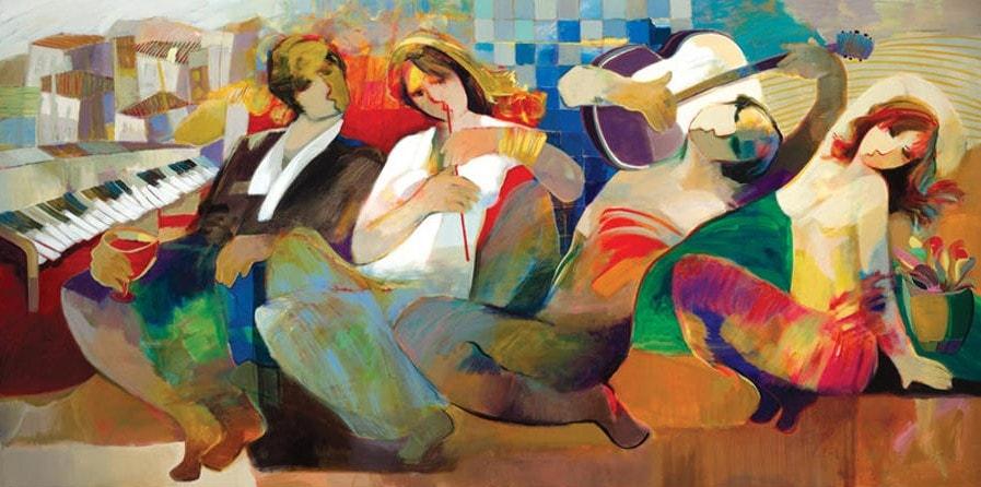 Special Evening by Hessam Abrishami 30 x 60 low