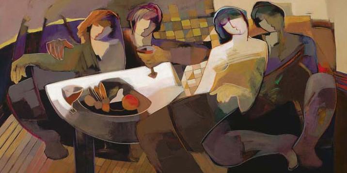 Splendid Evening by Hessam Abrishami 24 x 48 Sold Out embellished