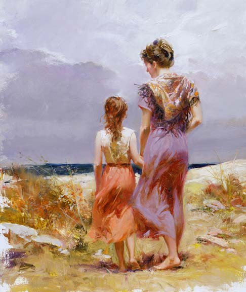 Summer Afternoon by Artist Pino Daeni Artwork