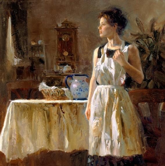 Sunday Chores by Artist Pino Daeni Artwork
