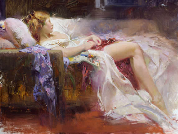 Sweet Repose by Artist Pino Daeni Artwork