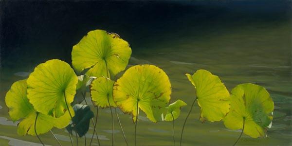 Tatyanna Klevenskiy Artwork - Lilypads 24 x 48