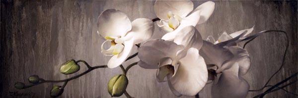 Tatyanna Klevenskiy Artwork - Orchids 12 x 36