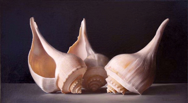 Tatyanna Klevenskiy Artwork - Sea Shell Trio 20 x 36
