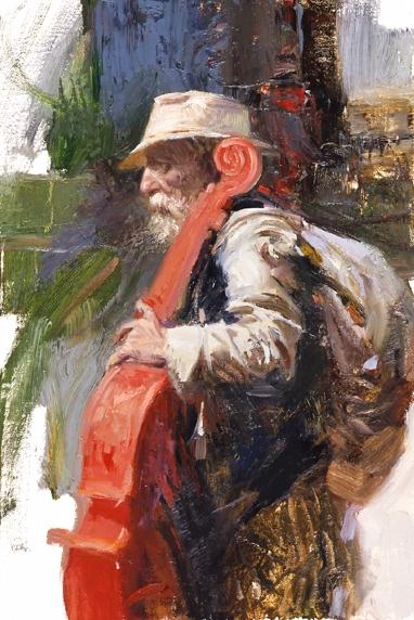 The Red Viola by Artist Pino Daeni Artwork