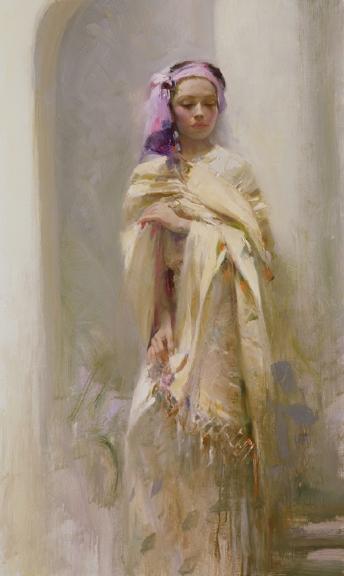 The Silk Shawl by Artist Pino Daeni Artwork
