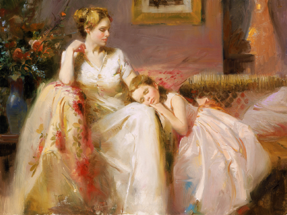 Touch of Warmth by Artist Pino Daeni Artwork
