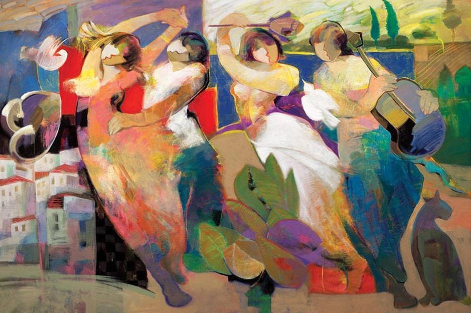 Twilight Dance by Hessam Abrishami 48 x 72 embellished