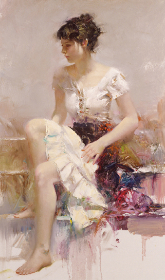 White Lace by Artist Pino Daeni Artwork