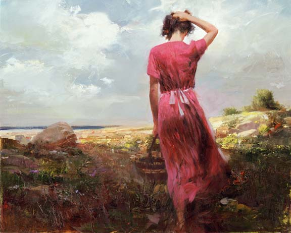 Windy Day by Artist Pino Daeni Artwork