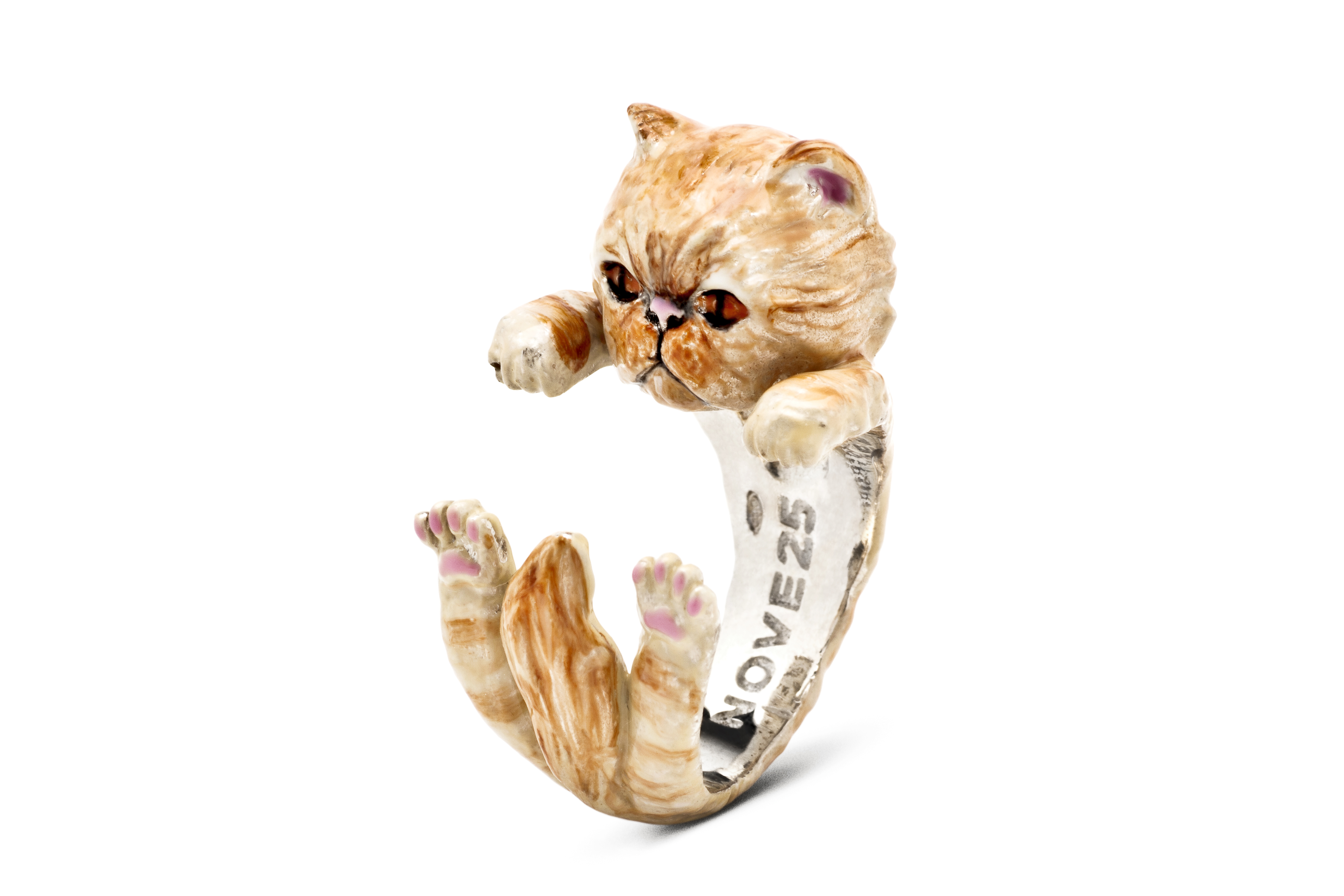 Hug Ring_Persiano tabby_enameled_DIAGONAL_HIGH