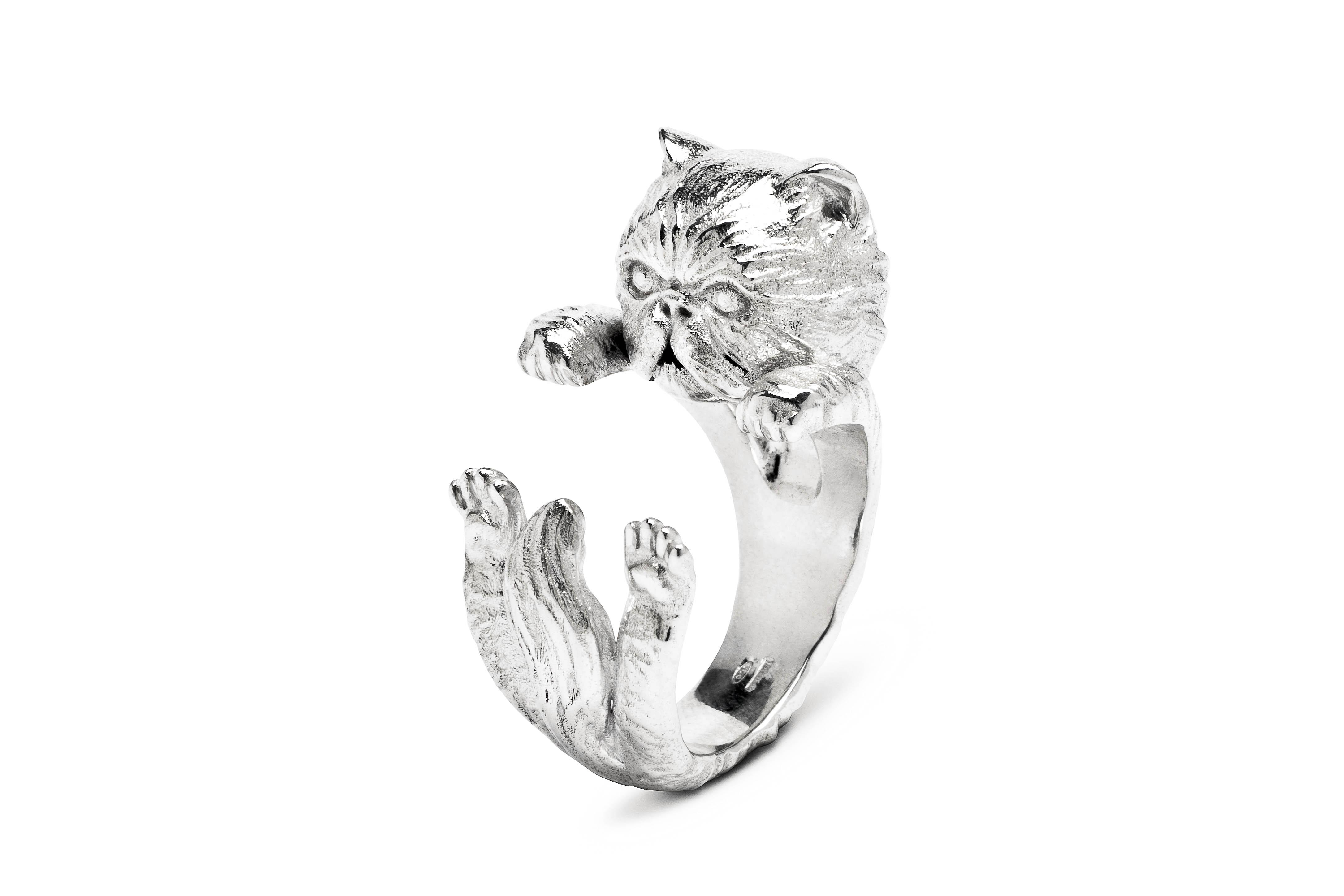 Persiano_Hug Ring_silver_DIAGONAL_HIGH