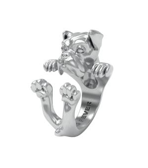 DOG-FEVER-HUG-RING-boxer-silver-hug-ring