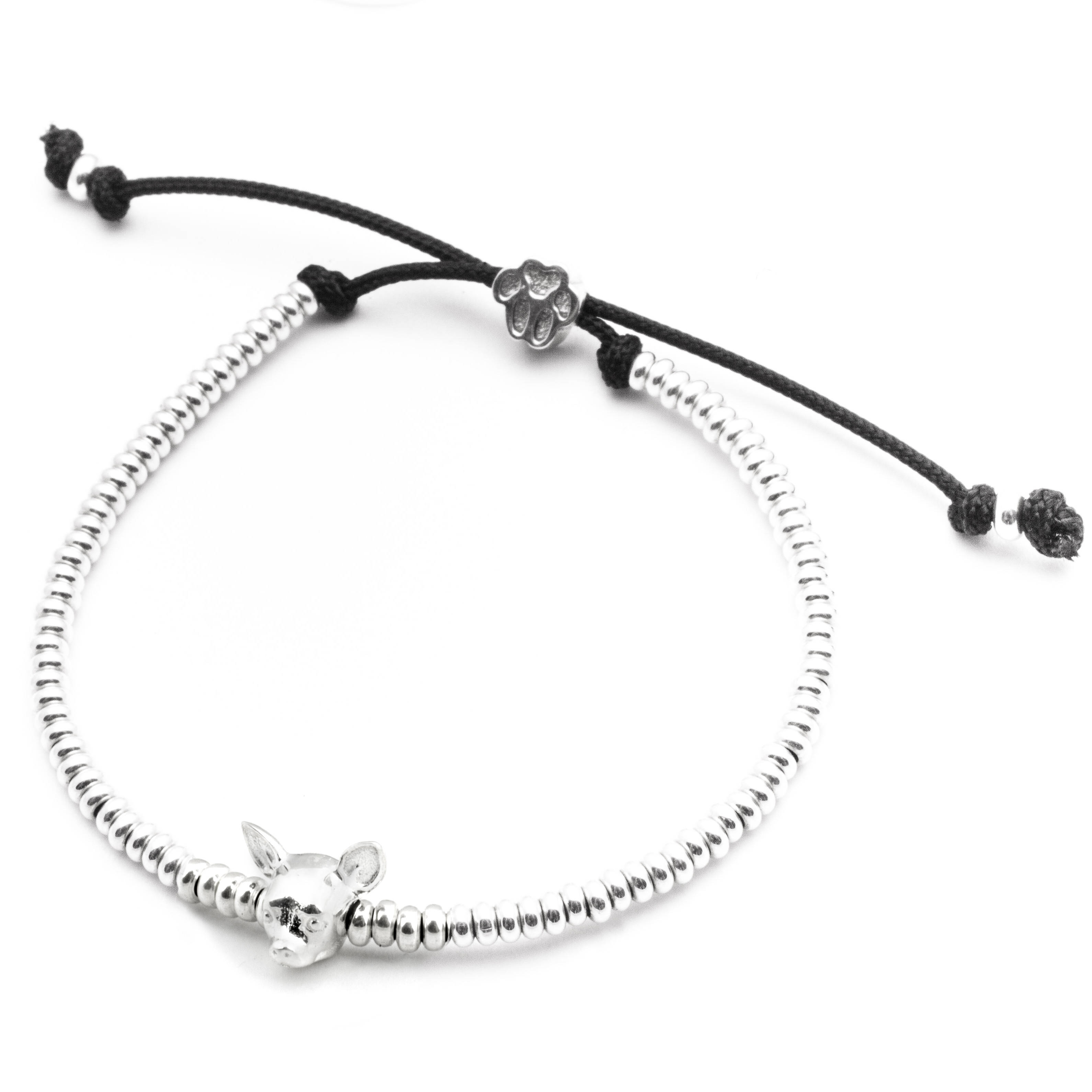 Chihuahua_Head Bracelet_silver_HIGH