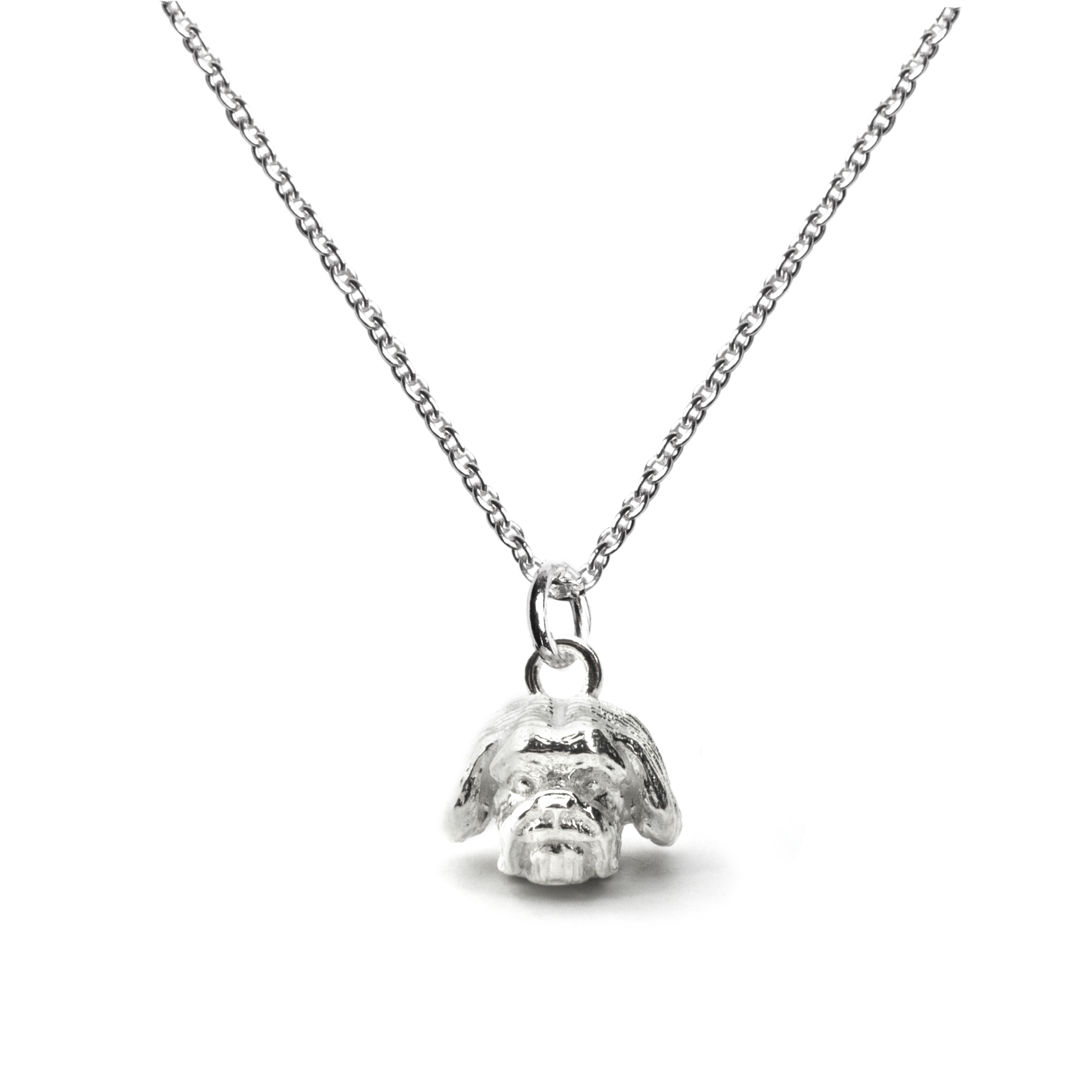 Shih-tzu_Head Pendant_silver_HIGH