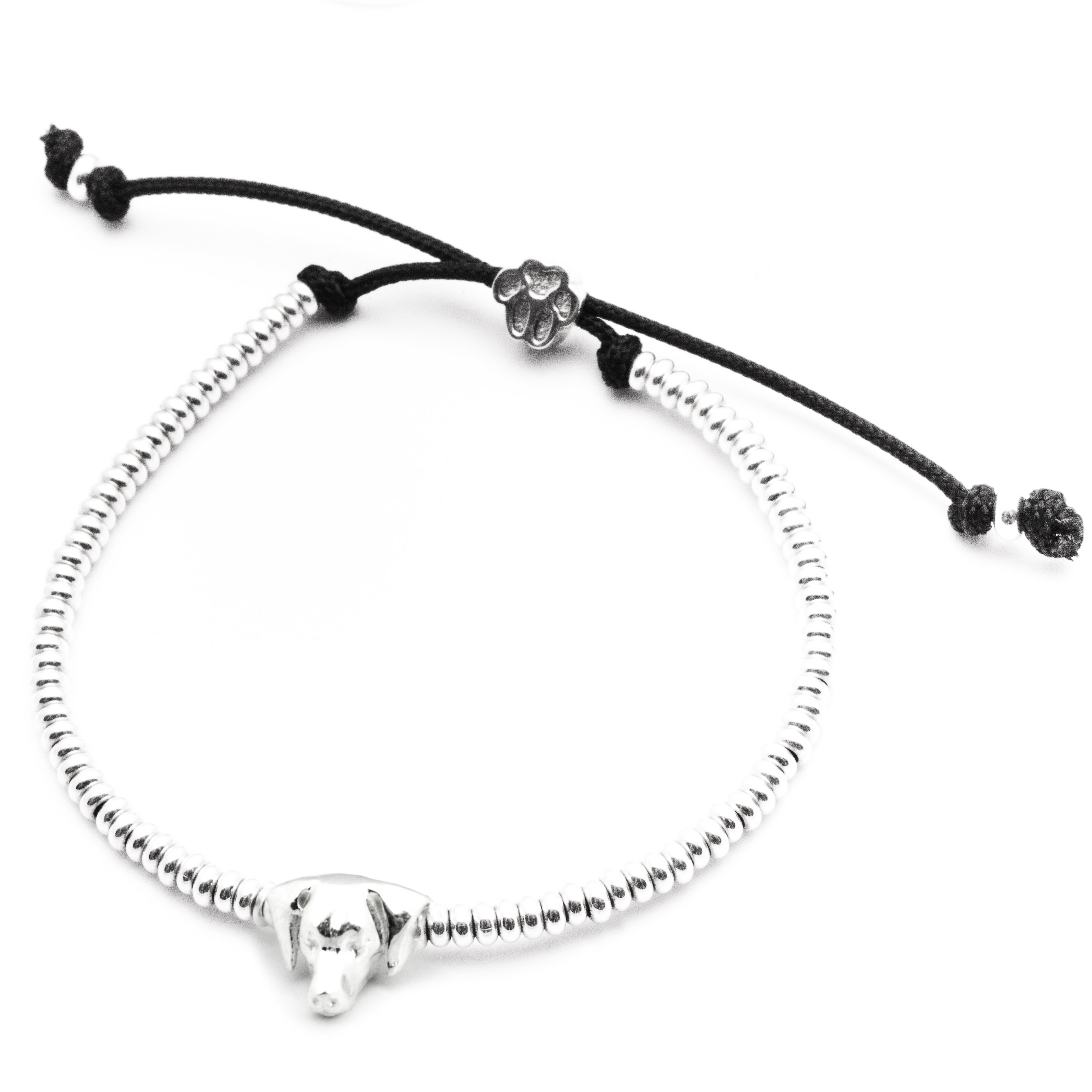 Weimaraner_Head Bracelet_silver_HIGH