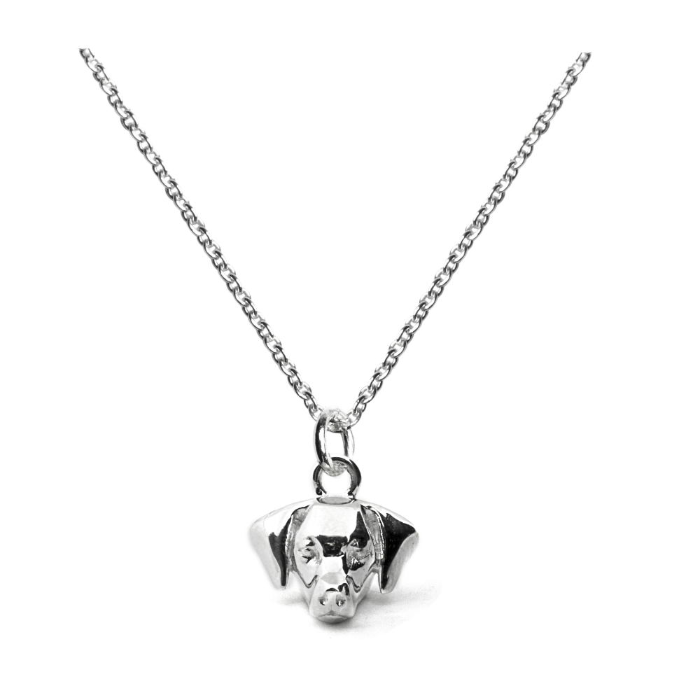 Weimaraner_Head Pendant_silver_HIGH