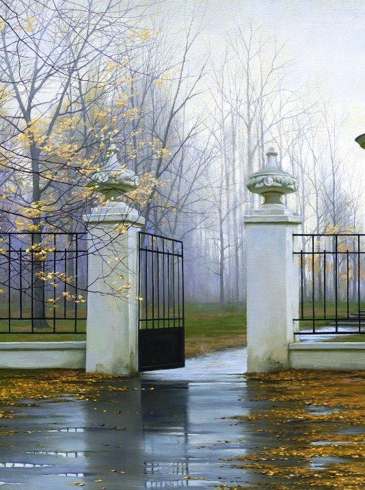 ALEXEI BUTIRSKIY ARTIST - Autumn Gate 32 x 23