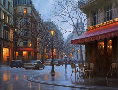 ALEXEI BUTIRSKIY ARTIST Cafe Royale Des Vins 20 x 26