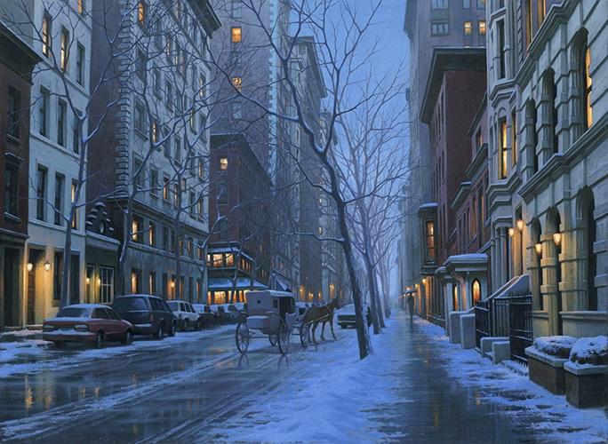 ALEXEI BUTIRSKIY ARTIST - Carriage Romance - New York 23 x 32