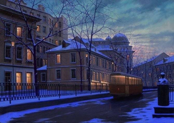 ALEXEI BUTIRSKIY ARTIST - Daybreak 28 x 40
