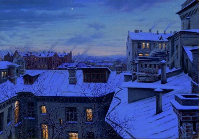 ALEXEI BUTIRSKIY ARTIST - Evening Glow 28 x 40