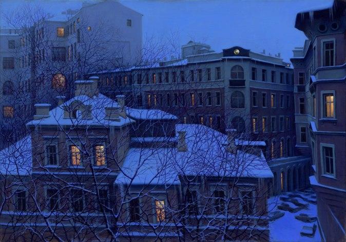 ALEXEI BUTIRSKIY ARTIST - Evening Lights 28 x 40