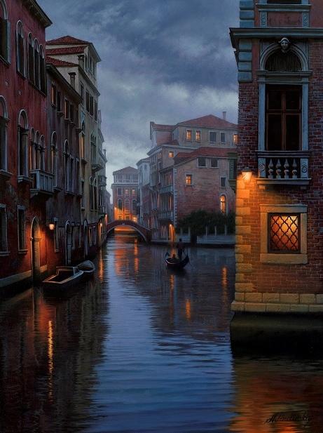 ALEXEI BUTIRSKIY ARTIST - Evening Passage 32 x 24