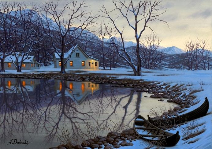 ALEXEI BUTIRSKIY ARTIST - Lake House 17 x 24